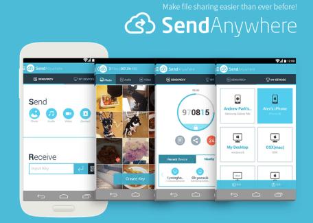 Send Anywhere, le Peer-To-Peer au service du mobile