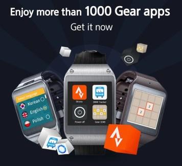 Samsung : déjà 1000 apps pour ses montres Gear