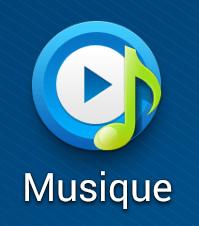 Aperçu de l'application Musique sur Samsung Galaxy