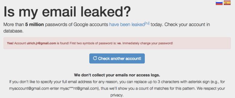 Cinq millions d'adresses Gmail piratées, et la vôtre ?