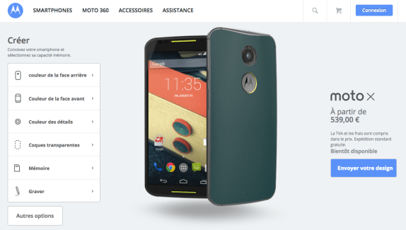 Moto X (2014) : Moto Maker est disponible en France