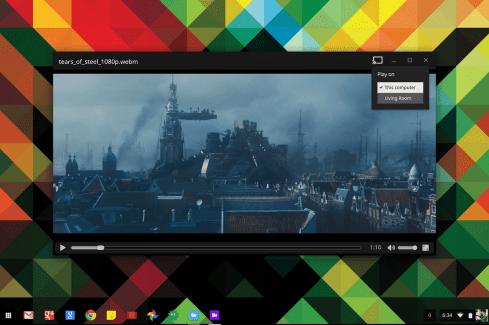 Chromebook : vous pouvez streamer via Chromecast des vidéos stockées dans Google Drive