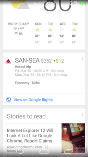 Google Now joue les comparateurs de vols et informe des baisses de prix