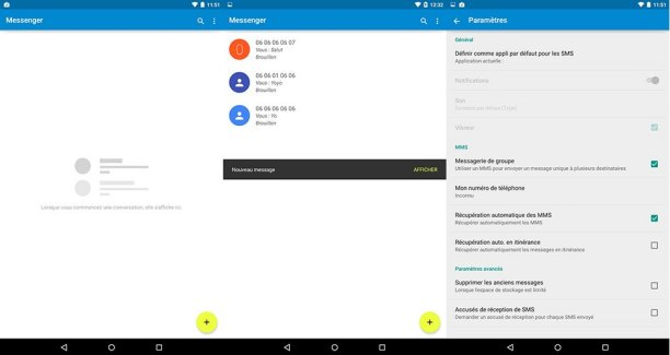 Un aperçu de Messenger, la nouvelle application SMS de Google