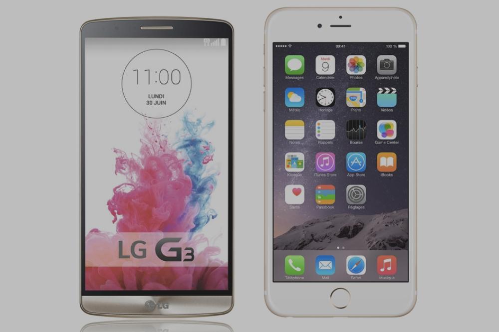 LG G3 contre iPhone 6 Plus, les géants dans l'arène