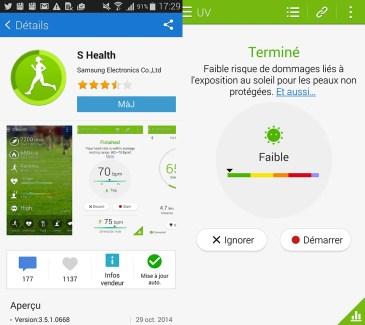 Samsung ajoute la mesure des UV et un moniteur de sommeil à S Health