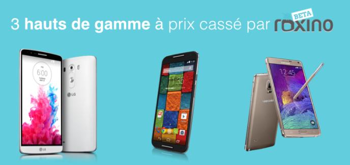 Bon plan Roxino : 3 smartphones haut de gamme à prix cassé