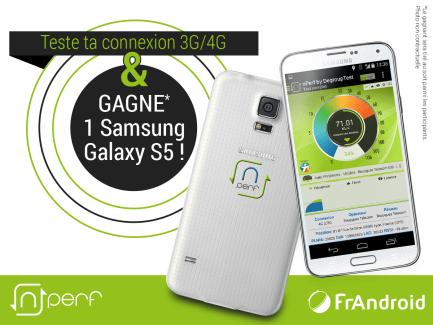 Jeu concours FrAndroid et nPerf : gagnez votre Samsung Galaxy S5 !