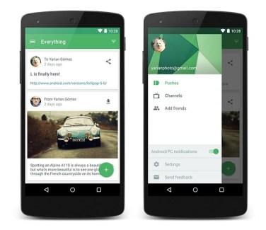 Pushbullet est compatible avec de nouvelles messageries