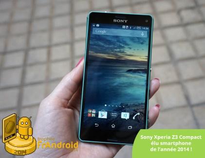 Trophée FrAndroid 2014 : le meilleur smartphone 2014 est le Sony Xperia Z3 Compact
