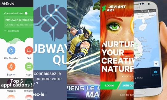 Les apps de la semaine : AirDroid, Subway Quiz, DeviantArt, Marvel Tournoi des Champions et Here