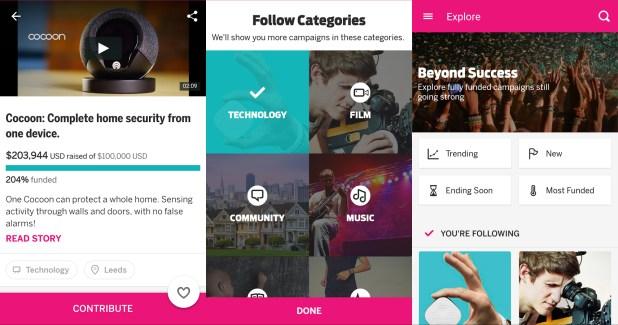 L'application Indiegogo arrive sur le Play Store