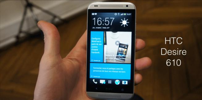Bon plan : Le milieu de gamme 4G de HTC, le Desire 610 est en promotion