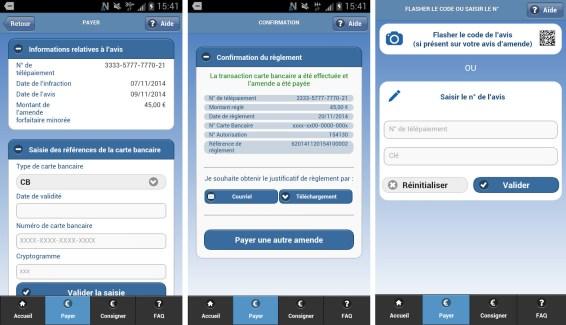 Nous sommes en 2015 et il est enfin possible de payer ses amendes via une application mobile en France