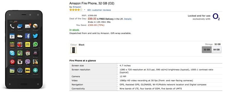 Amazon Fire Phone : même les Anglais veulent s'en débarrasser
