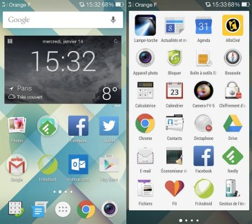 Le launcher Google Now se met aux couleurs de Lollipop