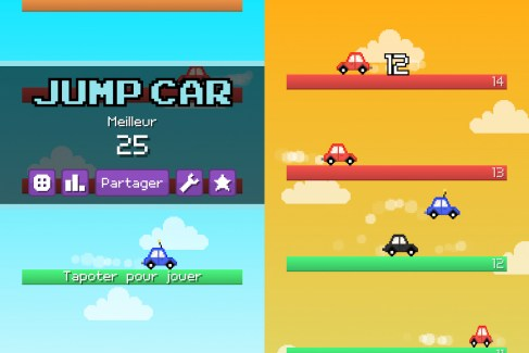 Jump Car : un runner game à la verticale où vous êtes une bagnole