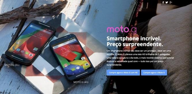 Le Moto G 4G (2e génération) est désormais en vente, mais seulement au Brésil