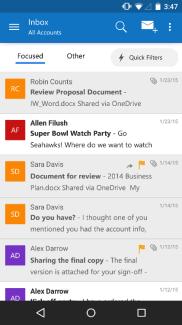 Outlook fait peau neuve sur Android et iOS en s'appuyant sur l'application Acompli