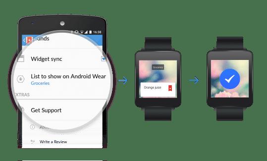 Wunderlist pour Android Wear vous laisse dicter vos to-do lists