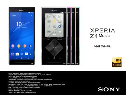 Le Sony Xperia Z4 Music fait une première incursion en ligne