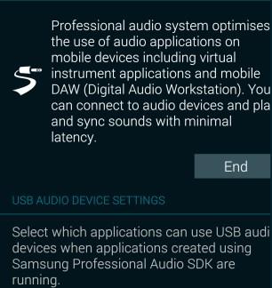 Lollipop apporte un nouveau pilote audio professionnel pour le Galaxy S5