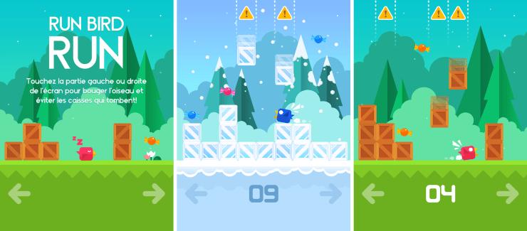 Run Bird Run : sauvez les oiseaux de Tetris !