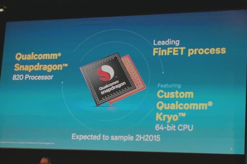 Qualcomm annonce le Snapdragon 820 avec des cœurs maison Kryo 64 bits