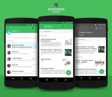 Evernote passe au Material Design et devient plus clair