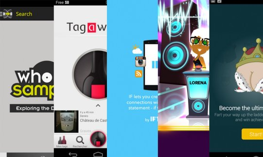 Les apps de la semaine : WhoSampled, Tagawine, IF by IFTTT, Wazasound Quiz Blind Test, Fartners – Fart Farts Together