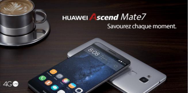 Bon plan : le Huawei Ascend Mate 7 en promo à 380 euros