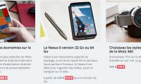 Bon plan Motorola : promotions sur les Moto X, Moto 360 et Nexus 6