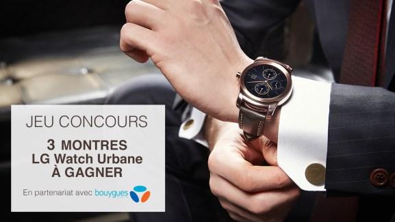 Concours LG Watch Urbane : 3 montres connectées à gagner !