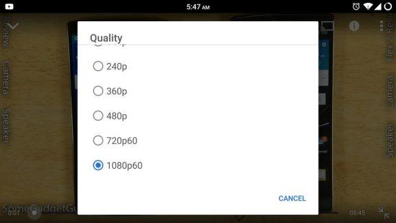 YouTube : les vidéos à 60 FPS (1080p et 720p) disponibles sous Android