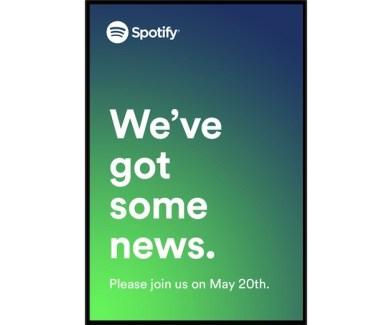 Spotify nous donne rendez-vous le 20 mai prochain