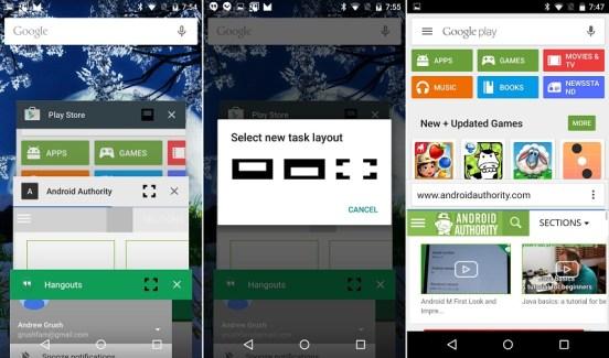 Android M : le mode multi-fenêtres de la partie !