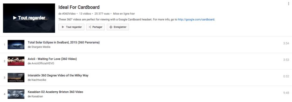Regarder des vidéos YouTube 360° depuis un Cardboard, c'est maintenant possible