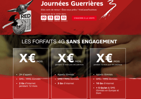 Journées guerrières de SFR : demain, jusqu'à 10 euros de promotion par mois sur les forfaits RED