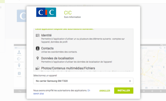 Le CIC abuse des autorisations sur son application et menace ses clients