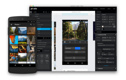 L'outil de design d'applications Pixate rejoint Google