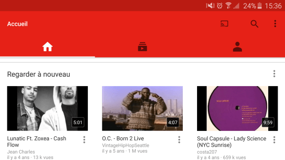 YouTube se met à jour et affiche une interface plus minimaliste