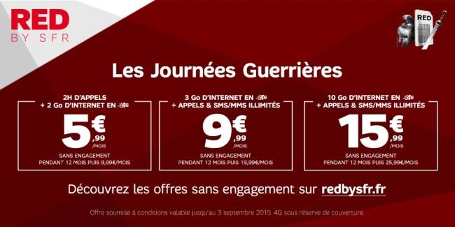 SFR relance ses «Journées Guerrières» sur ses forfaits RED