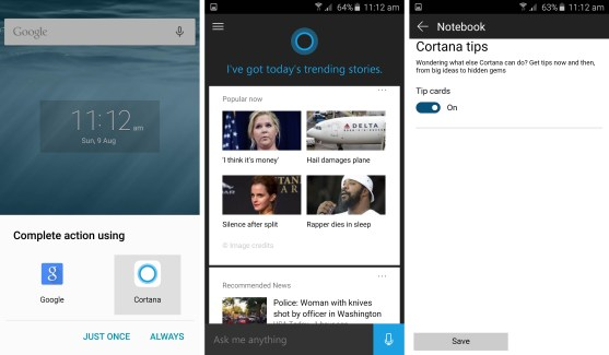 Cortana peut désormais remplacer Google Now