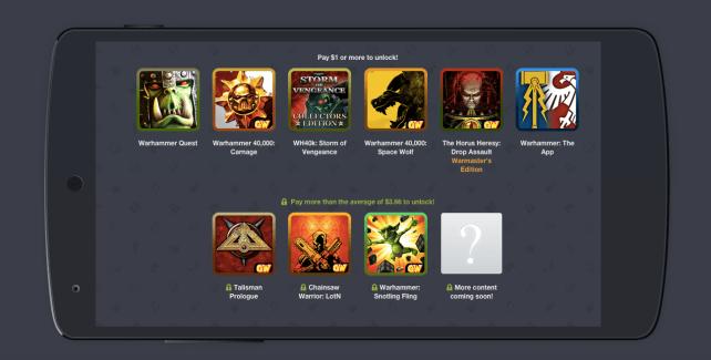 Humble Bundle revient avec un pack réservé aux licences de Games Workshop