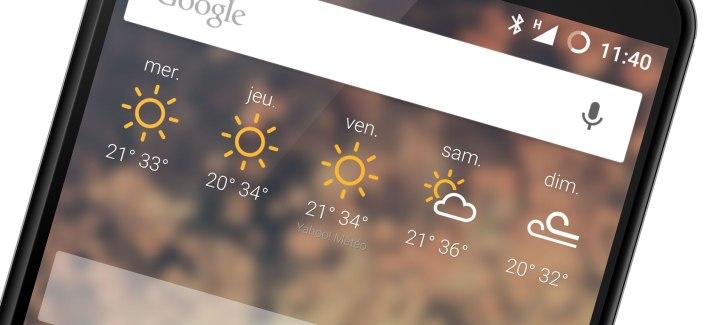 Le vent sur un widget de prévisions météo, c'est possible