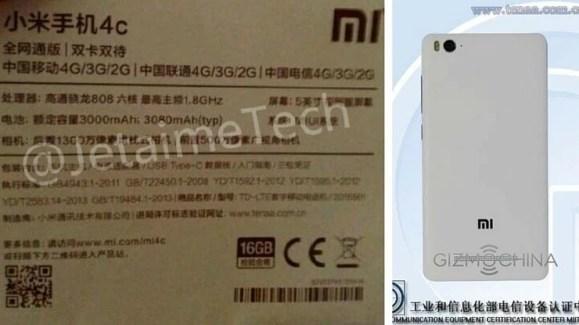 Xiaomi Mi4c, adoption en vue de l'USB Type-C chez le fabricant chinois