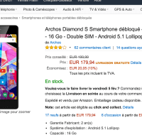 👍 Bon plan : l'Archos Diamond S à 179 euros sur Amazon