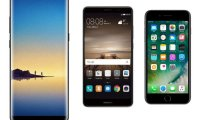 Samsung Galaxy Note 8 vs Apple iPhone 7 Plus vs Huawei Mate 9 :...