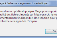 Mega supprime d'office les liens diffusés sur Mega-Search