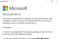 Microsoft WiFi fait son apparition dans Windows 10